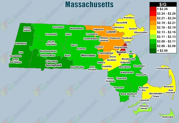 Gas Prices in Massachusetts