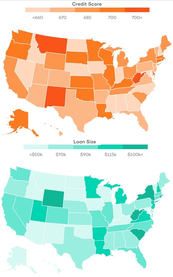 credit-score-us-map