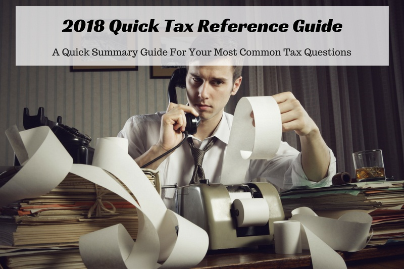 2018 tax reference guide